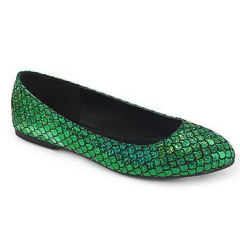 Funtasma Beklædning og tilbehør > Kostumer og tilbehør > Kostume sko > Womens HAVFRUE-21 Green Hologram Pu