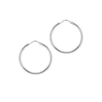 The Hoop Station Chica Latina Silver 27 Mm Hoop Earrings H120