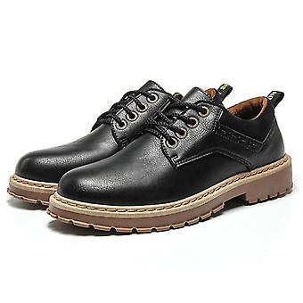 الرجال الجلود الشتاء العمل سلامة ماء حذاء عارضة.