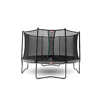 BERG Grey champion regular 380 12.5ft trampoline with safety net comfort