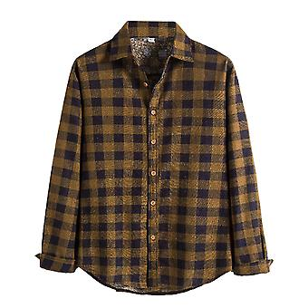 Allthemen Men's Button Down Regular Fit Long Sleeve Plaid Stylish Casual Shirts