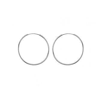 Boucles d'oreilles Eternity Sterling Silver 35mm Plain Sleeper Hoop