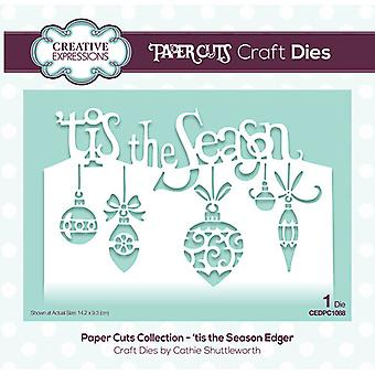 Creative Expressions Paper Cuts Collection Cutting Dies - 'tis the Season