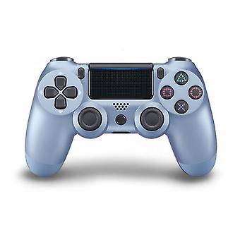 DoubleShock Bluetooth Wireless Controller for PlayStation 4, Titanium Blue