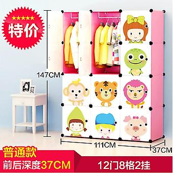 Baby Cartoon Wardrobe Resin Kids Closet Armoire Enfant Assembly Storage