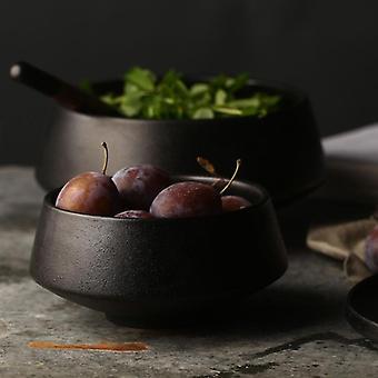 Skandinavisk design miljøvennlig pigmentert keramisk høy ris og suppe bolle