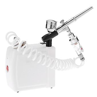 Professional gravity feed dual action airbrush air compressor kit for art painting makeup manicure