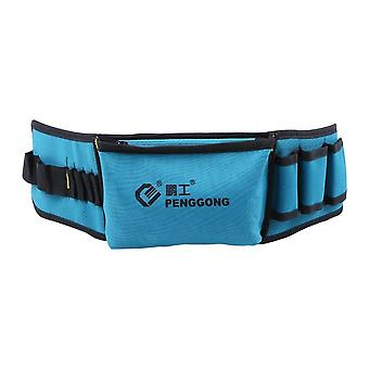 Multi-functional waist tool bag pockets pouch organizer oxford canvas chisel repairing with belt