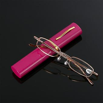 Metal Frame Reading Glasses With Metal Case