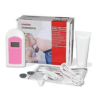 Бесплатная доставка ce и fda ребенка звук b карман плода доплер lcd экран бесплатный гель для беременных женщин дома / больницы розовый синий