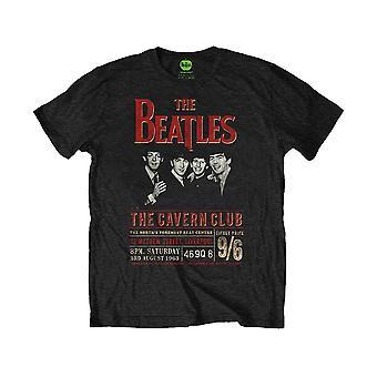 Men's The Beatles Cavern Club 1963 Poster Black T-Shirt