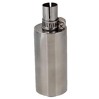 Silver Diaľkové ovládanie Model Auto Výfukové Muffler Engine Pipe 13.7x4.3Inch