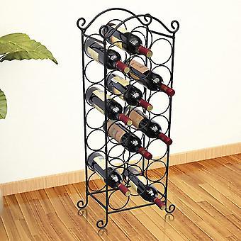 vidaXL زجاجة رف ل21 زجاجة من المعدن