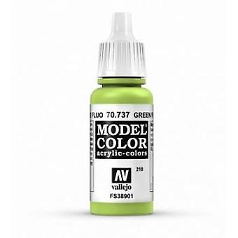 Vallejo Model Color 17ml Acrylic Paint - 737 Fluorescent Green