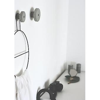 FengChun Decimal Design Wandhaken Garderobenhaken Wandgarderoben aus Beton rund Industriestil