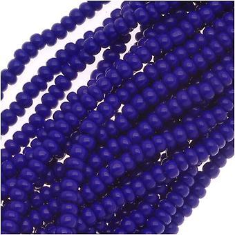 Cuentas de semillas checas Tamaño 11/0 Azul real opaco (1 madejas)