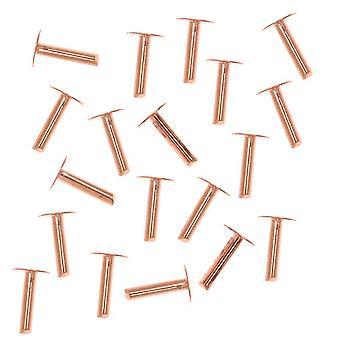 Rivetti per testa per unghie da 1/4 pollice in rame per pelle di 1,3 mm di diametro, 20 pezzi