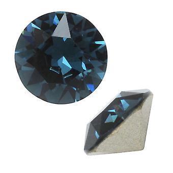 Swarovski Kristall, #1088 Xirius Round Stone Chatons ss39, 6 Stück, Montana F