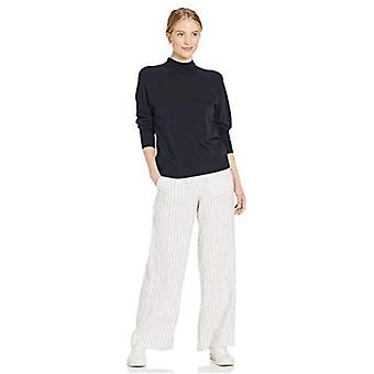 Brand - Daily Ritual Women's Fine Gauge Stretch Mockneck Pullover Sweater, Navy, X-Large