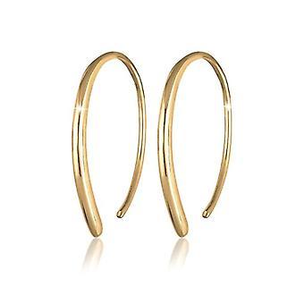Elli Earrings for women, Creole, simple, geometric style, sterling silver 925(3)