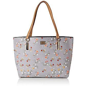 BESSIE LONDONLarge Floral Print Bag In Bag ShopperDonna Shoulder BagMulticolore (Multi)11x35x38 Centimeters (W x H x L)