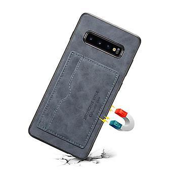 حقيبة جلدية مع فتحة بطاقة المحفظة ل Samsung note9 رمادي داكن