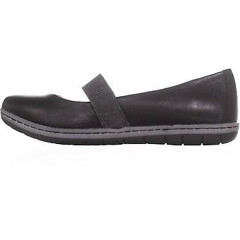 B.O.C Womens Kalani Leather Round Toe Mary Jane Flats