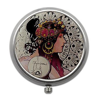 Pillerilaatikko 12 Zodiac-kyltillä - Libra