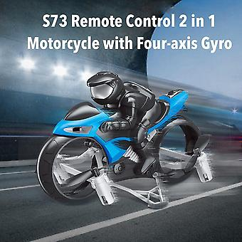 RC Motorcycle Drone Toys With 360 Degree Rotation Drift Electric Motorcycle For Children(Blue)