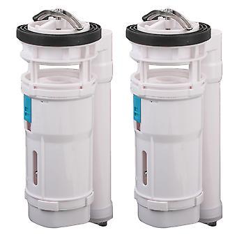 2PCS Toilet Push Button Valve Replacment Dual Flush w / Box White 21CM