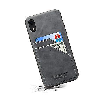 Portefeuille étui en cuir fente pour carte samsung s10e gris foncé pc4025
