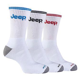 Jeep - 3 pk hombre algodón acolchado calcetines deportivos