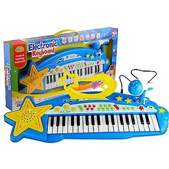 Tastiera per bambini MP3 + Microfono - Blu