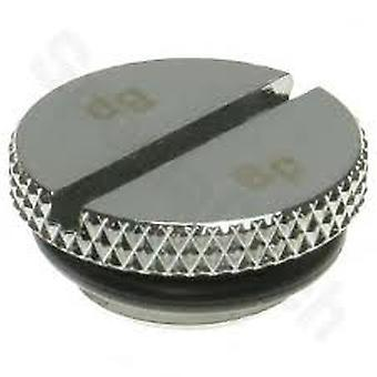"""Bitspower G1/4"""" Low-Profile Stop Fitting with O-ring - shiny silver"""