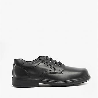 Start-Rite Isaac Boys Leather Lace Up School Shoes Black