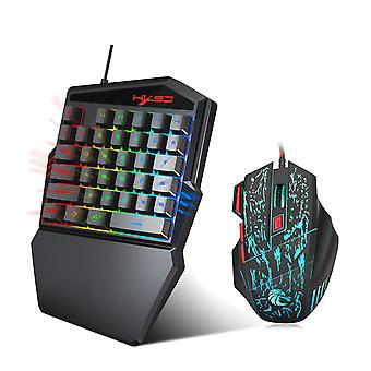 Hxsj One-handed Gaming Keyboard + Mouse