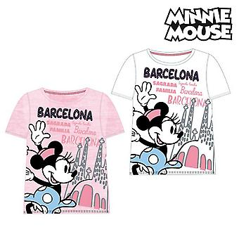 Child's Short Sleeve T-Shirt Barcelona Minnie Mouse 73847