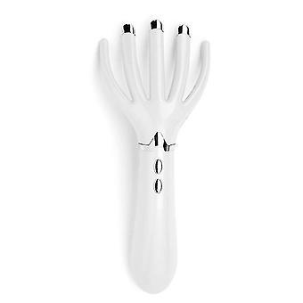 Electric Head Scalp Claw Massager Octopus Scratcher Massage Handheld Vibration Tool (Blanco)