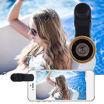 180 fokos Fisheye Univerzális Clip Lens nagylátószögű mobiltelefonok kamera