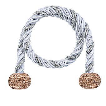 الماس مرصع ستارة حبل لكمة خالية من زر التثبيت ستارة المغناطيسي