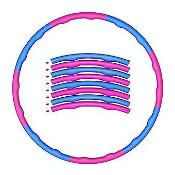 Copoz gewogen opvouwbare hoelahoep abdominale trainer fitness hula voor volwassenen 1,2 kg 8 knopen (roze en