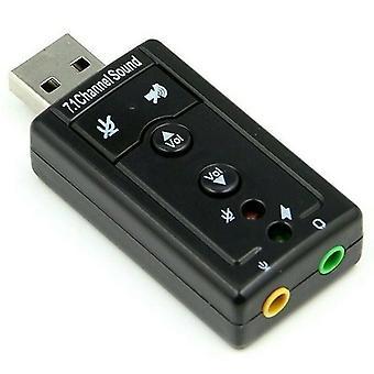 Conversor de adaptador de áudio usb 2.0 7.1 Channel Stereo Card