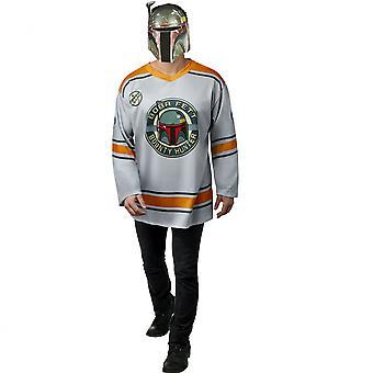 Star Wars alkuperäinen trilogia Boba Fett Miesten jääkiekko jersey ja naamio