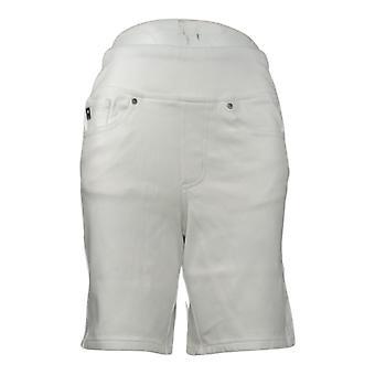 """Belle af Kim Gravel Kvinders Shorts Flexibelle 8 """"Shorts White A351268"""