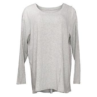 Modern Soul Women's Plus Top Long Sleeve Tee Gray 681481