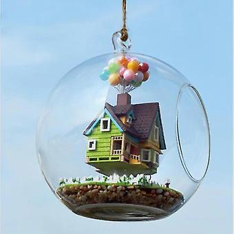 1PC uutuus DIY House lasi pallo lentävä hytti