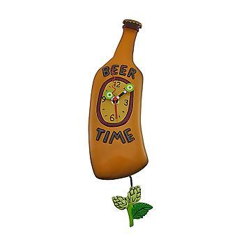 Allen mallit oluen aika olut pullo Pendulum seinäkello