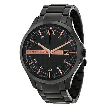 Armani Exchange Black Dial Black Ion-plated Men's Watch AX2150