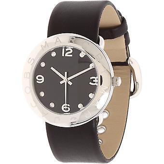 Marc By Marc Jacobs Amy Reloj Negro De Piel De Mujer MBM1140