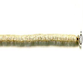 Toscaanse gehaakte armband Cubic Zirconia voor womens 9K geel goud 7.5 '' 0.05ct